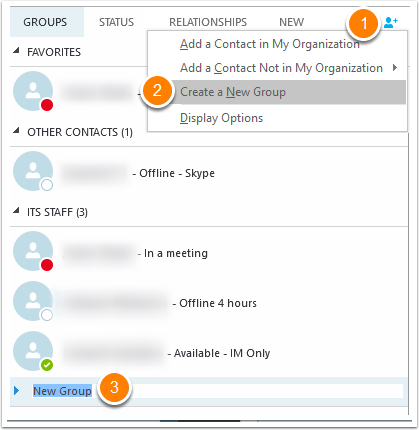 Using Skype for Business - Contacts, Groups, IM and Screen