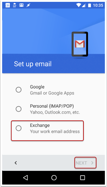 Email Setup for Android Devices | Information Technology